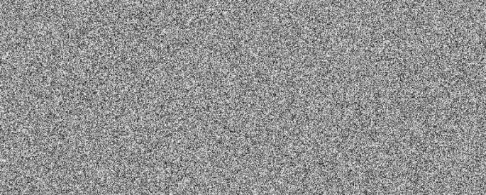 visualization of white noise, white and grey mottled