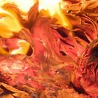 impressionistic flames, red, yellow, orange fire