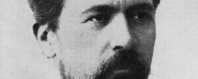 Anton Chekhov - black and white photo