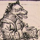 a cynocephali, man with a dog head