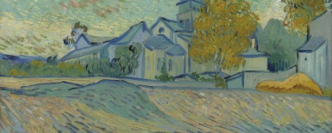 Vincent van Gogh painting: View of the Asylum and Chapel of Saint-Rémy