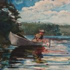 Winslow Homer painting, Pickerel Fishing