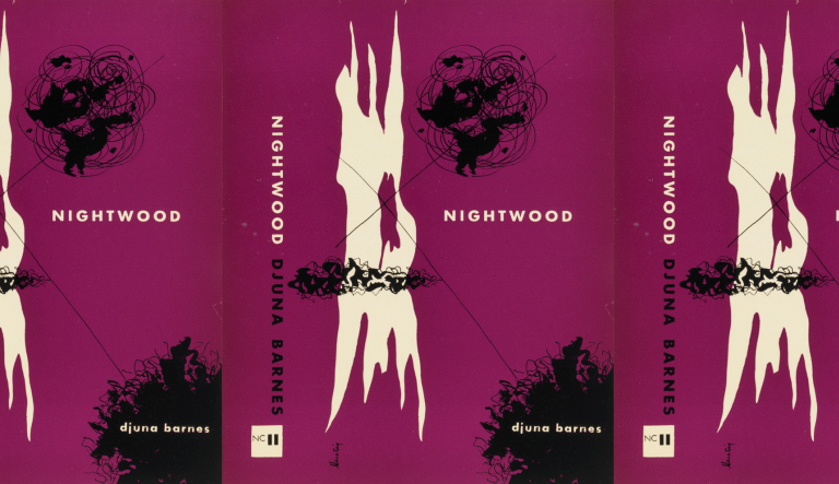 side by side series of the Nightwood cover in a repeated pattern