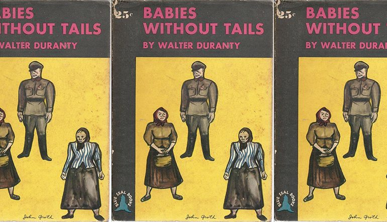 Babies Without Tails cover in a repeated pattern