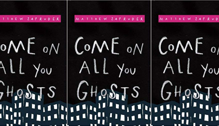 Come On All You Ghosts cover in a repeated pattern