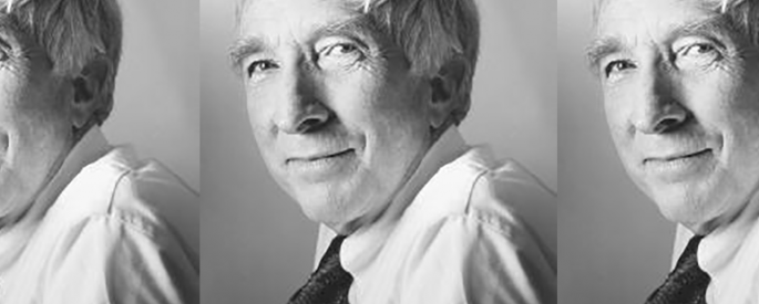 Updike, black and white photograph