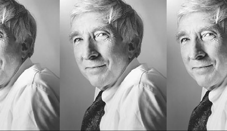 side by side series of three black and white photographs of Updike