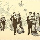 Old drawing of Victorian society