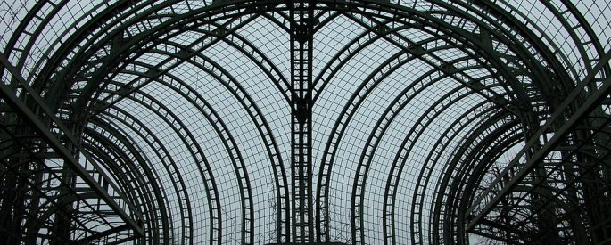 Large arching, grid-like structure.