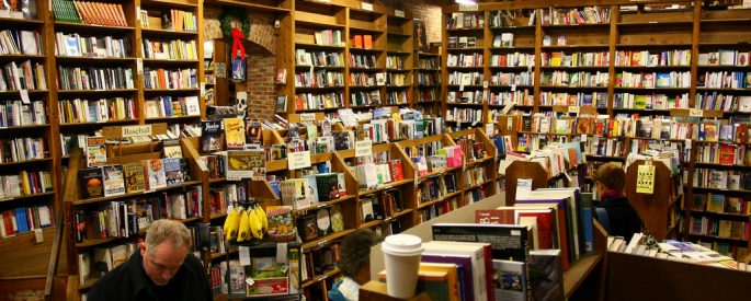 Photograph of the inside of a bookstore