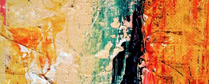 Photo of an abstract painting