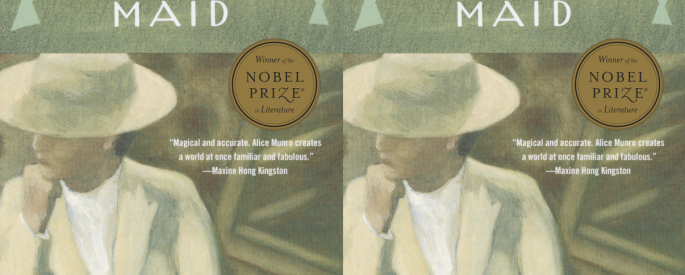 Side by side cover image of Alice Munro's The Beggar Maid