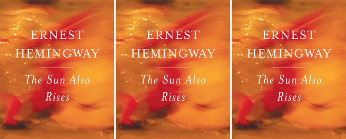 The cover art for Hemingway's The Sun Also Rises