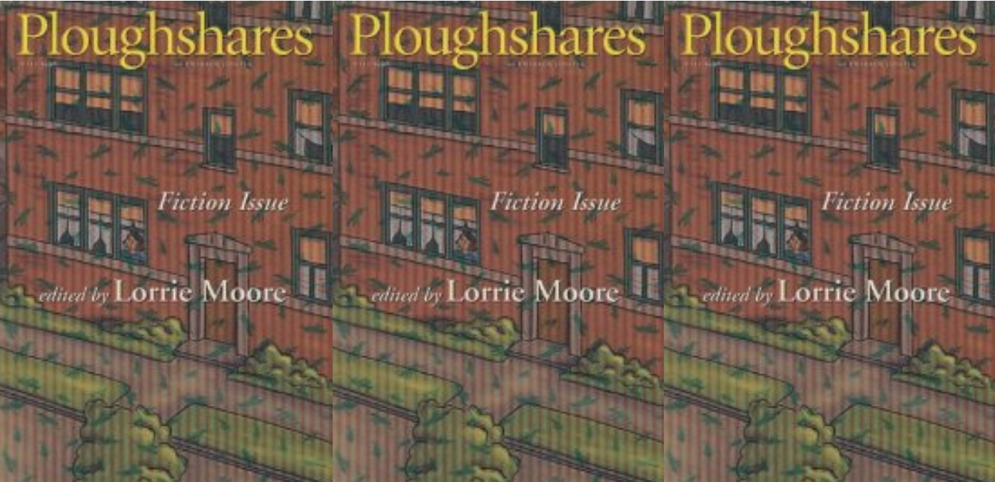 Cover art for Ploughshares edition edited by Lorrie Moore