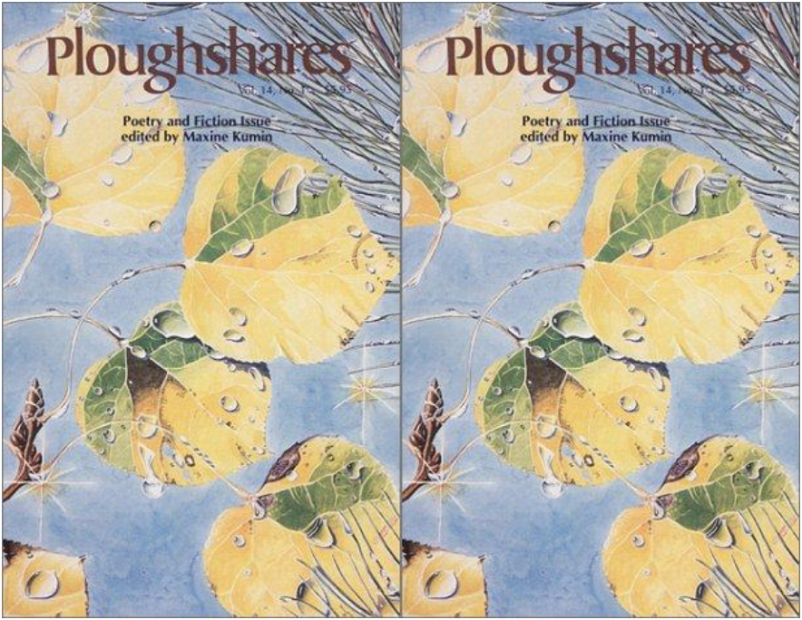 side by side cover of the Ploughshares Poetry and Fiction issue
