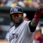 Photograph of David Ortiz in Boston Red Sox uniform and helmet