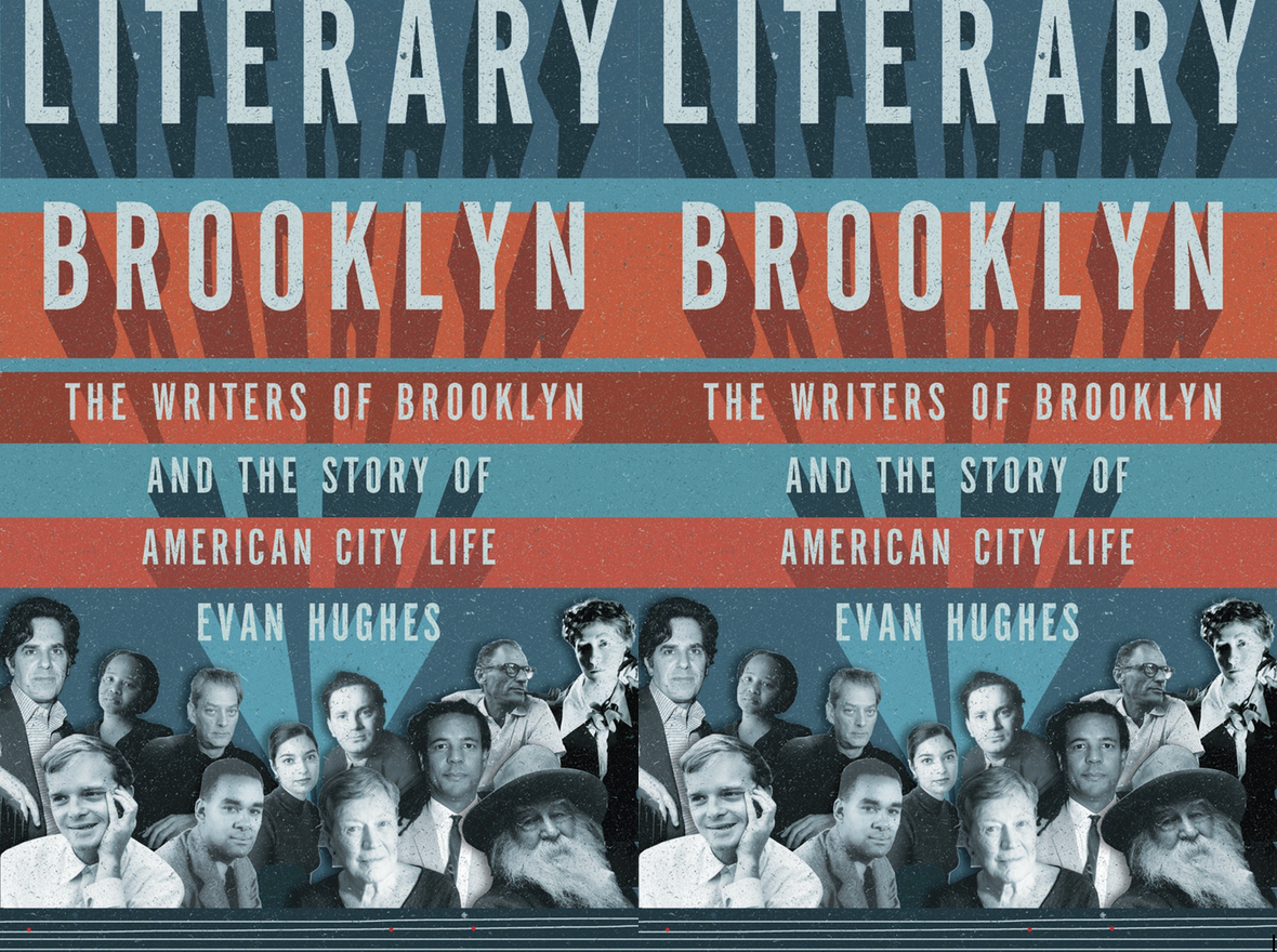 Cover art for Literary Brooklyn by Evan Hughes