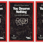 Cover art for You Deserve Nothing by