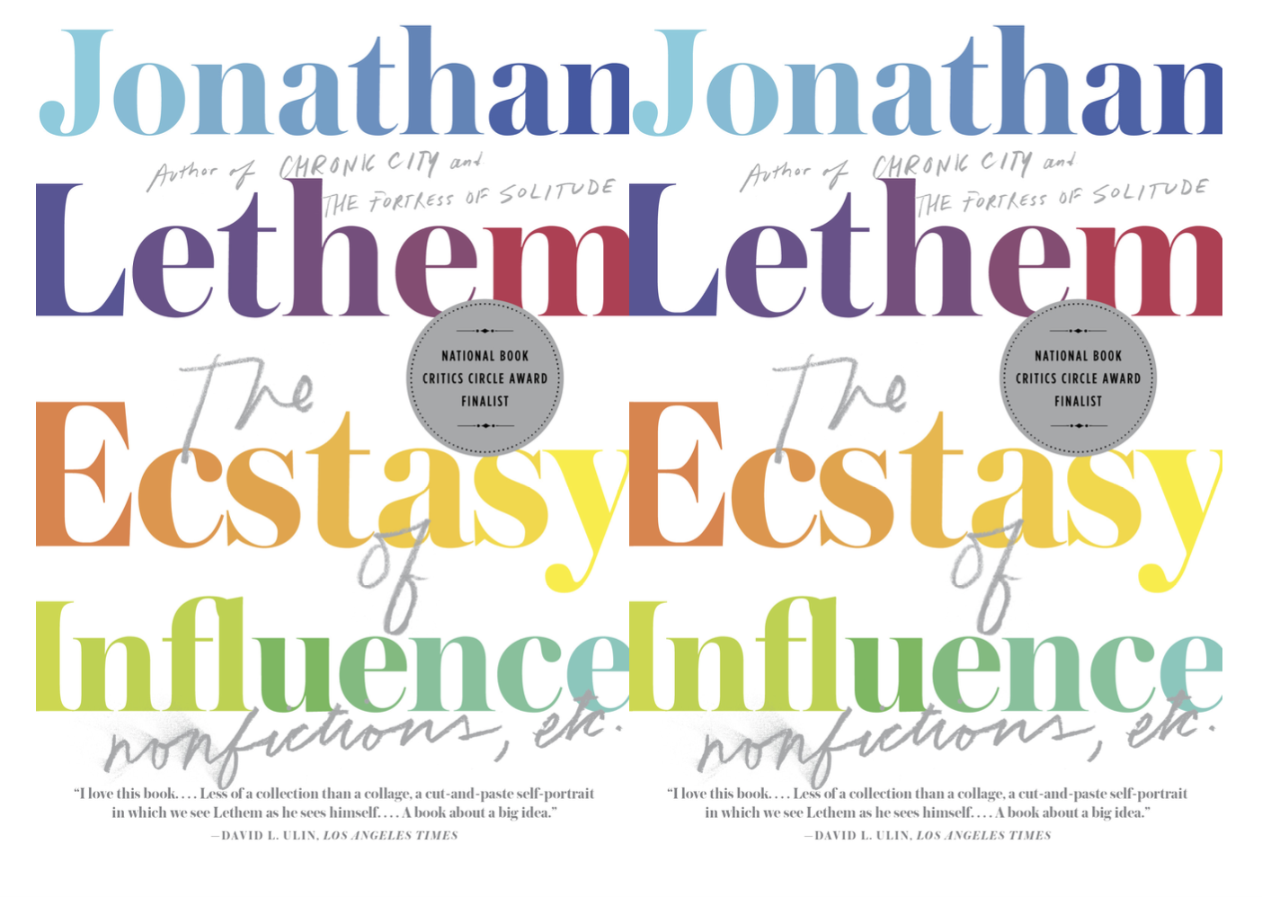 Cover art for The Ecstasy of Influence by Jonathan Lethem