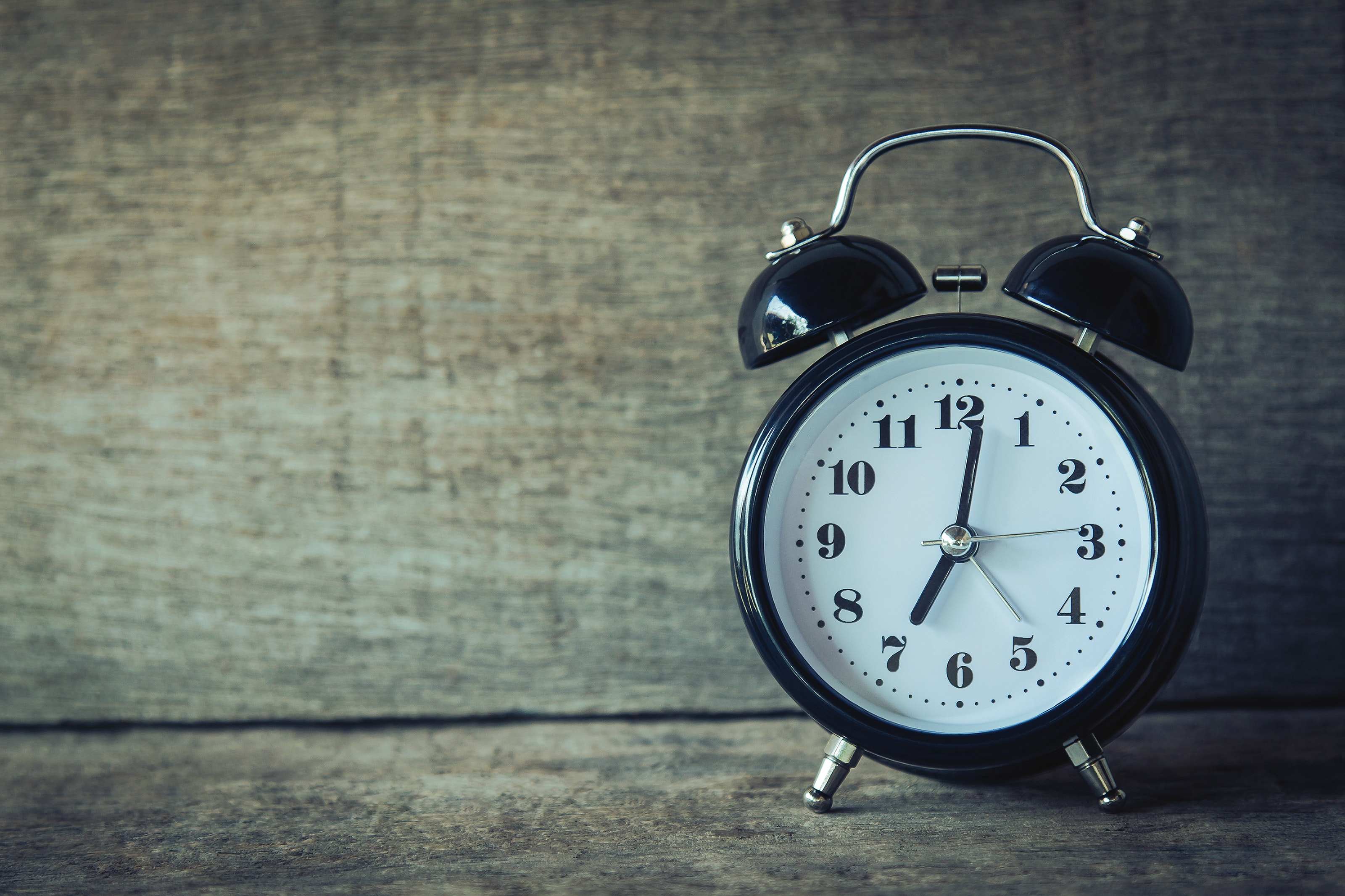 Photograph of a small alarm clock
