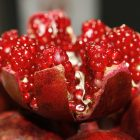 Photograph of a opened pomegranate