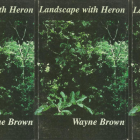 side by side series of the cover of Landscape with Heron