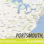 "map of the American Northwest with a caption that reads ""Portsmouth, NH"""