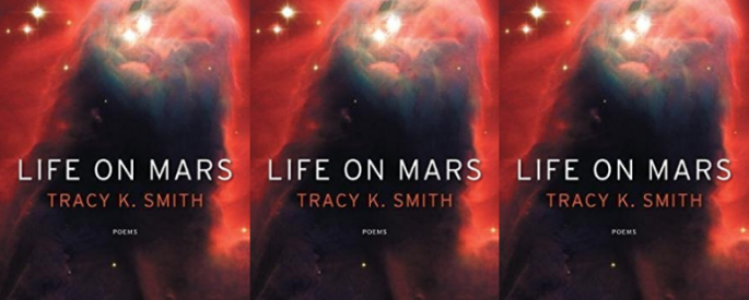 side by side series of the cover of Tracy K. Smith's Life on mars