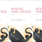 Three side-by-side photos of the cover of the book Rough, and Savage.