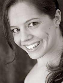 black and white, close-up portrait of Traci Brimhall