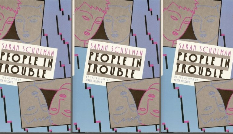 side by side series of the cover of People in Trouble by Sarah Schulman