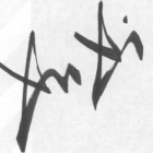 up-close photo of a signature