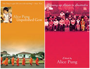 side by side covers of books by Alice Pung