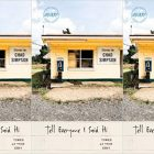 "side by side series of the cover of ""Tell Everyone I said Hi"""