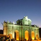 Puerta de Alcala in Madrid, Spain at night