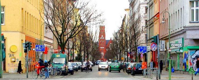photo of a colorful street in Berlin, Germany