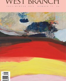 image of the cover of West Branch which features an abstract oil painting