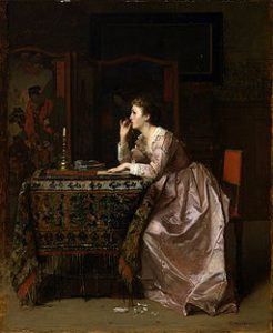 256px-Florent_Willems_-_The_Important_Response_-_Walters_37140