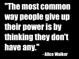 The most common way people give up
