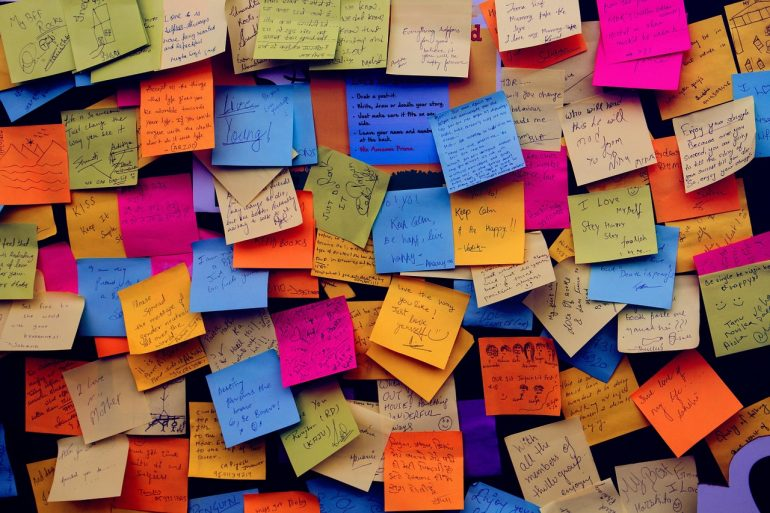 Collection of Post-It notes