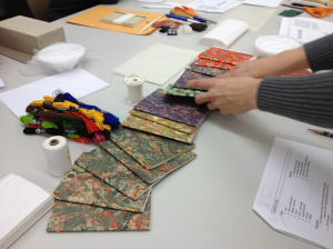 Materials for student workshop in MIT's Conservation Lab (with conservator, Ann Marie Willer)
