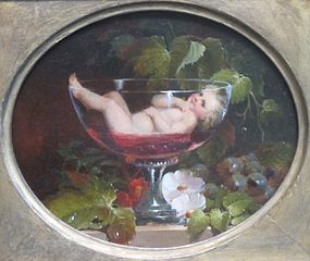 """Cupid in a Wine Glass"" by Abraham Woodside. Source: Wikimedia Commons"