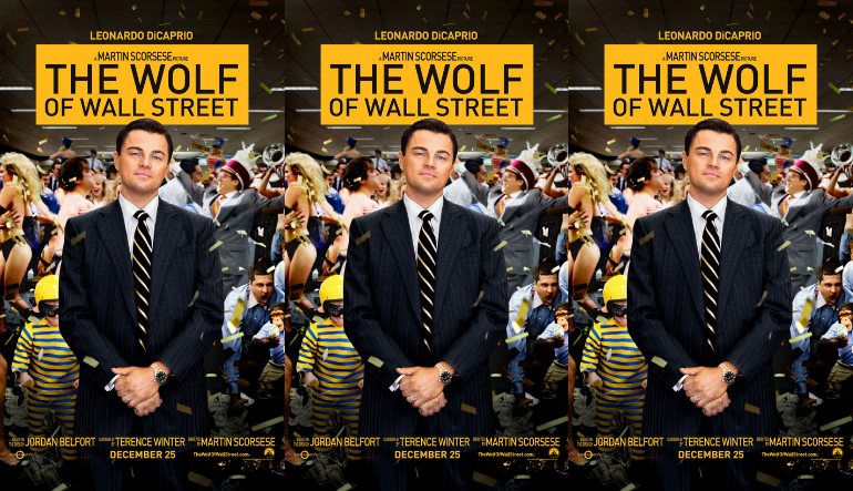 The movie poster of THE WOLF OF WALL STREET side by side.
