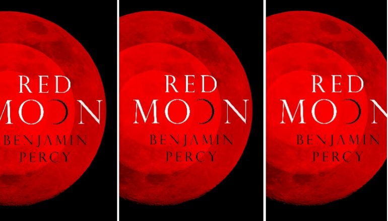 side by side series of the cover of Percy's Red Moon