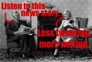 less tweeting more writing