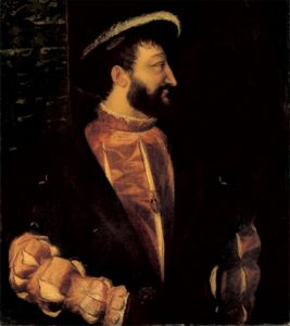Francis I of France was apparently also known as Big Nose Francis. Portrait by Titian.