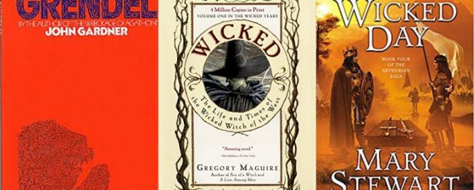"Covers for ""Grendel"" ""Wicked"" and ""The Wicked Day"""