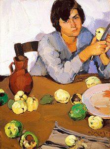 """""""Peeling Quinces"""" by Lytras Nikolaos."""