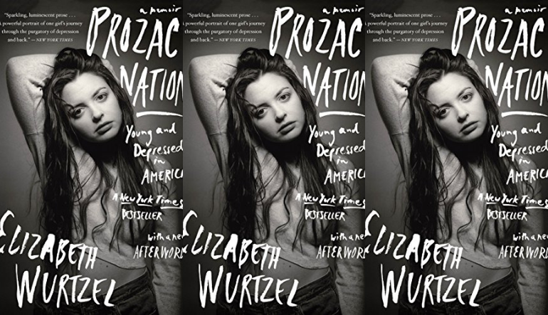The cover of Prozac Nation side by side.