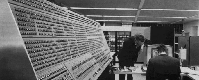 Photo of the first computer filling up the whole room